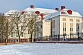 Building of the former koenigsberg city hall german stadthalle kaliningrad until koenigsberg russia art historical museum in Stock Photography
