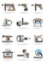 Building and furniture power tools Stock Image