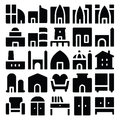 Building & Furniture Vector Icons 5 Royalty Free Stock Photo