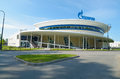 The building of Gazprom,which is the main sponsor. Royalty Free Stock Photo