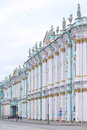 The building of Hermitage and Winter Palace in St. Petersburg, Russia Royalty Free Stock Photo