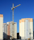 Building high-rise prefabricated house Royalty Free Stock Photo