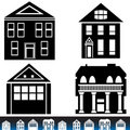 Building Icon Set Royalty Free Stock Photography
