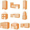 Building Icon Set Royalty Free Stock Images