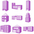 Building Icon Set Stock Photos