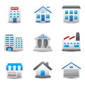 Building icons this image is a vector illustration Stock Image