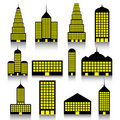 Building icons set Stock Image