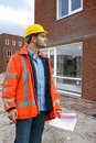 Building inspector Royalty Free Stock Photo