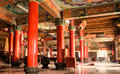 Building interior of colorful China temple Stock Images