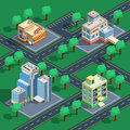 Building Isometric Set Royalty Free Stock Photo
