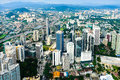 The building of kuala lumpur an aerial view city is capital and largest city malaysia Royalty Free Stock Photos