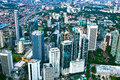The building of kuala lumpur an aerial view city is capital and largest city malaysia Stock Photography