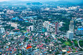 The building of kuala lumpur an aerial view city is capital and largest city malaysia Royalty Free Stock Image