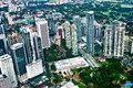 The building of kuala lumpur an aerial view city is capital and largest city malaysia Royalty Free Stock Images