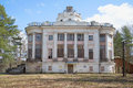 The building of the manor Demidov, sunny april day. Thais, Leningrad region Royalty Free Stock Photo