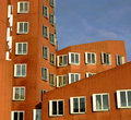 Building in Medienhafen area at Dusseldorf Stock Photography