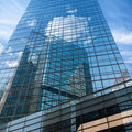 Building mirror glass wall Royalty Free Stock Photos