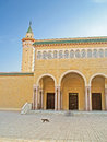 Building of a mosque, Monastir city, Tunisia Royalty Free Stock Photo