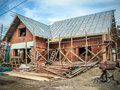 Building a new house Royalty Free Stock Photo