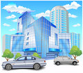 Building with parking Stock Images