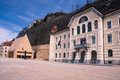 Building parliaments liechtenstein main square vaduz europe Stock Photography