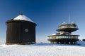 Building on peak of Snezka mountain, Czech Republic Royalty Free Stock Photo