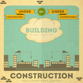 Building poster design Stock Image
