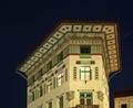 Building on the Preseren square in Ljubljana. Slovenija Royalty Free Stock Photo