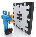 Building puzzle in the design of the information related to the decision leader Royalty Free Stock Photo