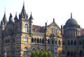 Building of the railway station in mumbai victoria terminus historical Royalty Free Stock Photo