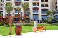 Building recreation area luxury hotel saadiyat island abu dhabi uae Stock Images