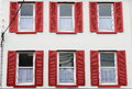 Building with red windows Royalty Free Stock Photo