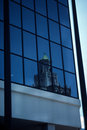 Building reflected in another building Royalty Free Stock Photo
