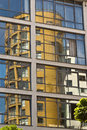 Building reflection apartment reflected in office windows Royalty Free Stock Photography