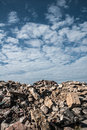 Building rubble sky clouds Royalty Free Stock Photos