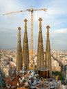 Building Sagrada Familia, Barcelona, Spain Stock Photos