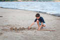 Building sandcastles Royalty Free Stock Photo