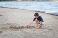 Building sandcastles Royalty Free Stock Photo