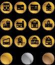 Building Seal Buttons Stock Photos