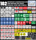 Building site, construction environments, Hazard warning attenti