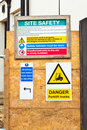Building site signs Royalty Free Stock Images