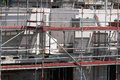 Building site, tools and scaffold III Royalty Free Stock Photo