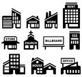 Building symbols collection of small Royalty Free Stock Photography