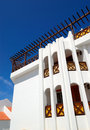 Building with terrace of luxury hotel Royalty Free Stock Photos
