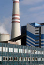 The building thermal power plants detail architecture Royalty Free Stock Photos