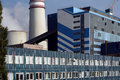 The building thermal power plants detail architecture Royalty Free Stock Photo