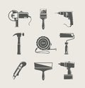 Building tool icon set Stock Photography