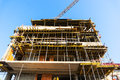 Building under construction apartment over blue sky Royalty Free Stock Photography