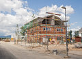 Building under construction site of a townhouse settlement Royalty Free Stock Photography