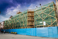 Building under restoration old architecture Royalty Free Stock Images